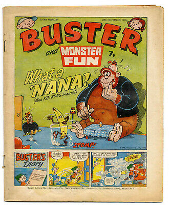 Buster 20 Nov 1976 (very high) Faceache, Clever Dick, Leopard from Lime St, Gums