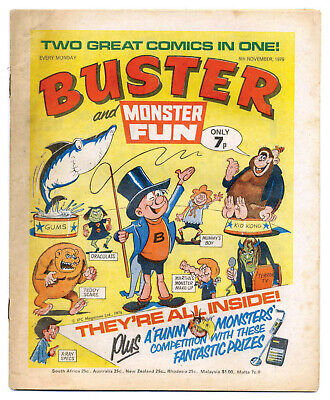 Buster 6th Nov 1976 (very high) Monster Fun merger issue