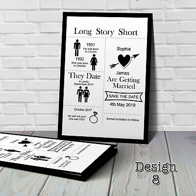 Personalised Wedding Save the Date Cards with Envelopes SV8