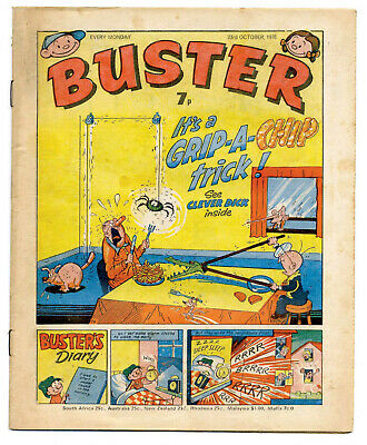 Buster 23rd Oct 1976 (high) Faceache, Clever Dick, Leopard from Lime Street