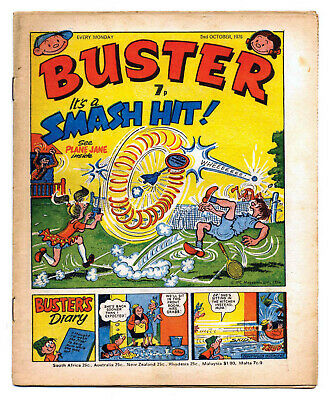 Buster 2nd Oct 1976 (very high) Faceache, Clever Dick, Leopard from Lime Street