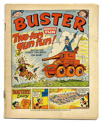 Buster 20th May 1978 (high) Faceache, Clever Dick, Leopard from Lime St, Gums