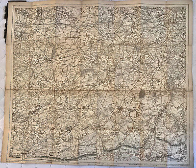 Early BACON'S Map CHARING CROSS 3 square mile of - missing cover.