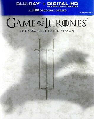 Game of Thrones: The Complete Third Season (Season 3) (5 Disc) BLU-RAY NEW