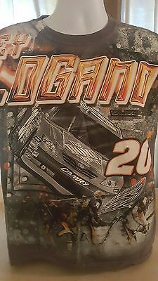 Nascar Joey Logano 20 2 Sided Home Depot Camry Coca-Cola Gray T Shirt Size M