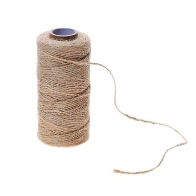 3mm x 5mtr 3 Ply Natural Brown Soft Jute Twine Sisal String Rustic Shabby Cord