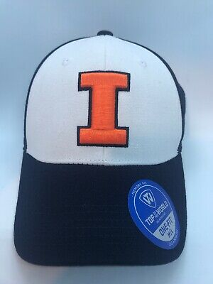 free shipping b7426 5ea1d Top of the World Illinois Fighting Illini Hat New w  Tags Medium Large Free