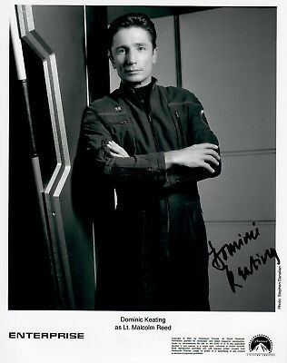 Original Autogramm Dominic Keating aus Star Trek, Foto 20x25cm