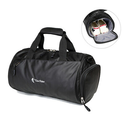 Waterproof Travel Tote Luggage Large Weekend Gym Shoulder Duffle Bag & Strap