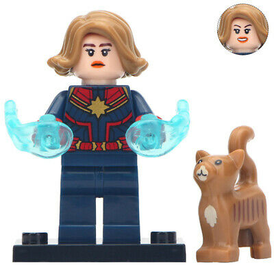 Captain Marvel Minifigure Avengers End Game Figure For Custom Lego Minifigures