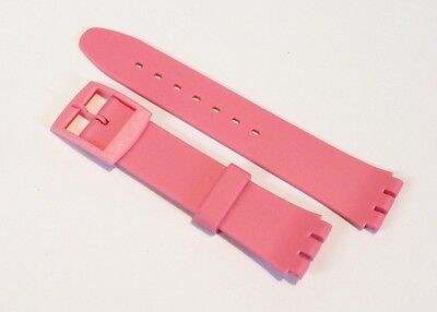 Replacement Resin watch strap band for Swatch 17mm PINK with buckle #SS4