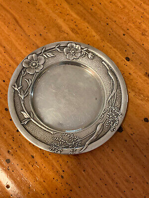 Victorian Era Tiffany & Co. Floral Butter Pat Very Similar To Vine Pattern