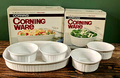 CLASSIC - 10-piece set of Corning Ware French White