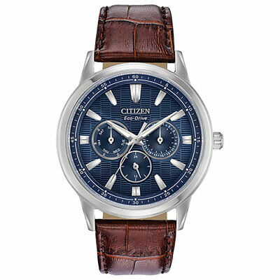 Citizen Eco-Drive Men's BU2070-12L Corso Brown Leather Strap 44mm Watch