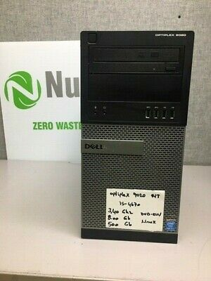 Dell Optiplex 9020 Tower Core i5 4670 3.4Ghz- 8GB/500GB - DVD/RW - Linux  PC