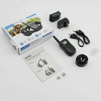 Electric Shock Collar 300M Remote Control Dog Training Pet Rechargeable Waterpro