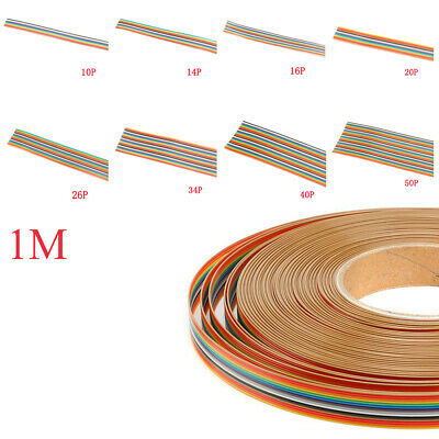 IDC flat Extension Cable Rainbow Wire 10p 14p 16p 20p 26p 34p 40p 50p Pin