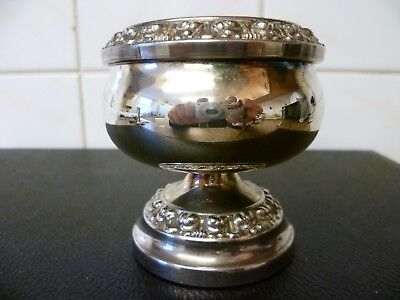 A VINTAGE, SMALL SILVER PLATED ROSE BOWL, By 'IANTHE'. 'LIONS CLUB' ROSE BOWL