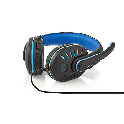 Nedis Gaming Headset Over-Ear Mikrofon 3,5-mm-Stecker mit Ultra-Bass-Sound