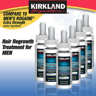 6 Month Supply Kirkland Minoxidil 5% Extra Strength Men Hair ReGrowth Solution