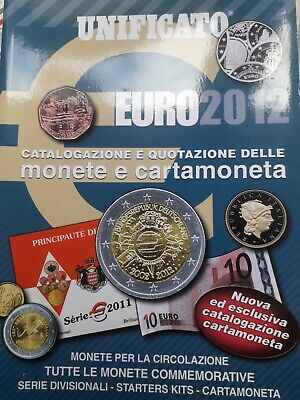UNIFICATO 2012 CATALOGO MONETE cartamoneta EURO