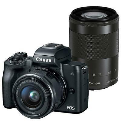 Canon EOS M50 Mirrorless Digital Camera with 15-45mm and 55-200mm Lenses Black