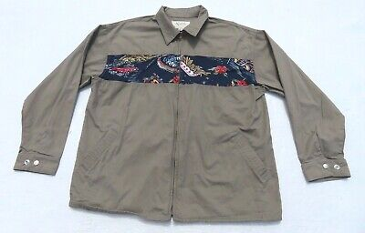 93c6b5d1e MENS RARE IN N OUT Burger Hawaiian Rayon Blend Button Shirt Corvette ...