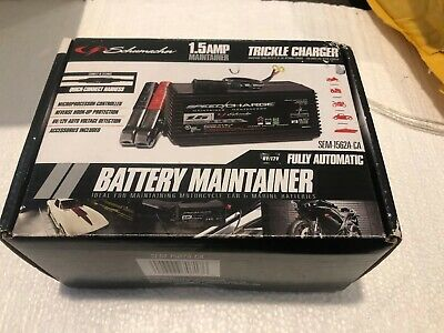 New 6 or 12 Volt Battery Charger Trickle Maintainer Tender Car Boat RV