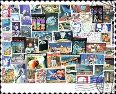 Space : 100 Different Stamps Collection