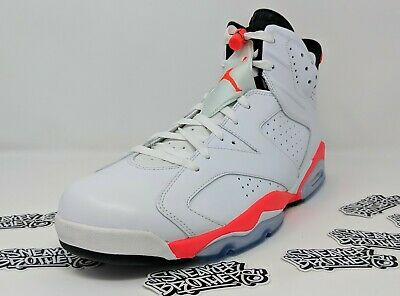 watch 5b53b b1717 Nike Air Jordan Retro VI 6 White Infrared Black Men s Basketball 384664-123