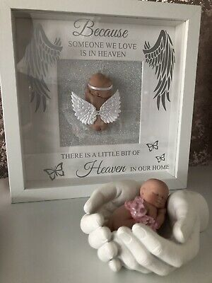 Angel Memorial Keepsake Frame Ooak Baby