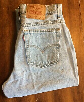 a468d60d5d5 VTG LEVI'S 550 RELAXED FIT TAPERED LEG JEANS Made in USA Women's Size 15 ...