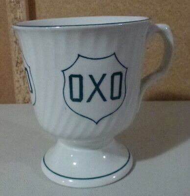 genuine antique ribbed OXO dark green transfer mug c1900 advertising display