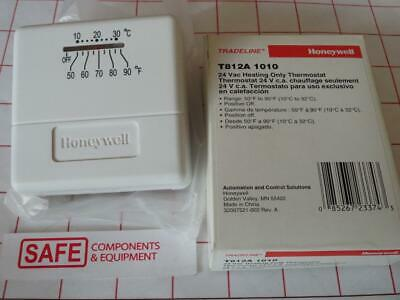 Honeywell T812A1010 HEAT ONLY Thermostat 24VAC Pos OFF (No Mercury) G44-13