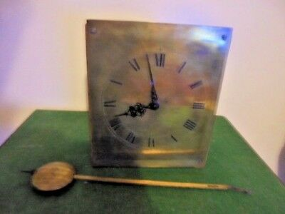 victorian fusee clock movement brass dail  and pendulum