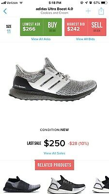 5f7bc55c4903d RARE Adidas Ultra Boost 4.0 Oreo Cookies and Cream size 11 White Grey Black