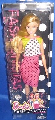 Barbie Collector Fashionistas Barbie Doll #13 Dolled Up Dots, New