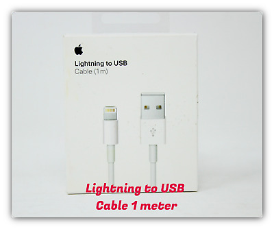 Apple OEM Lightning to USB Charging Date Cable 1M White (MQUE2AM/A) iPhone Xs XR