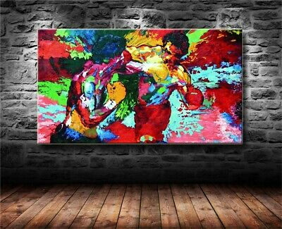 Rocky vs Apollo-Leroy Neiman Boxin Canvas HD Prints Painting Wall Art Home Decor