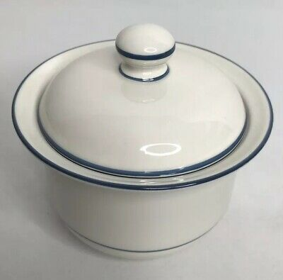 Lenox Chinastone For the Blue Patterns Pinstripe Sugar Bowl with Lid Replacement