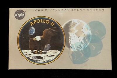 Apollo 11 1969 Vip Viewing Badge # 3820 Gray Vers. John F. Kennedy Nasa & Holder