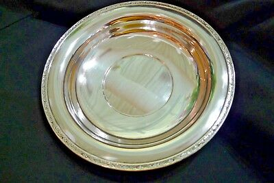 """Vintage Heavy Sterling Silver Large Serving Bowl """"Wallace Silversmiths""""  *1930*"""