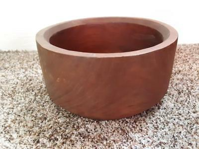 "Genuine Teak Wood Large Serving Fruit Bowl Thailand 10"" x 5"" Goodwood"