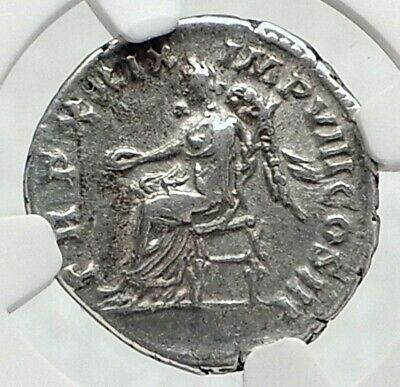 MARCUS AURELIUS Authentic Ancient Rome Silver Roman Coin VICTORY NGC i77351