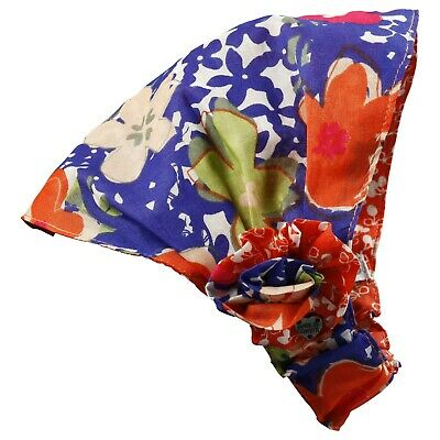 ABSORBA Baby Girl Red and blue floral headband T1 (6-12 months)