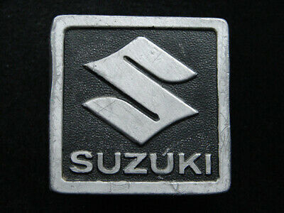 RI13126 VINTAGE 1970s **SUZUKI** MOTORCYCLE ADVERTISEMENT BELT BUCKLE