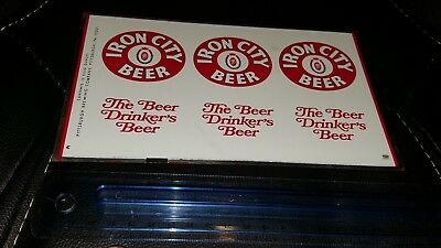 Iron City Beer Metal Advertisement Can One Sheet Uncut Pittsburgh Brewing Co. Pa