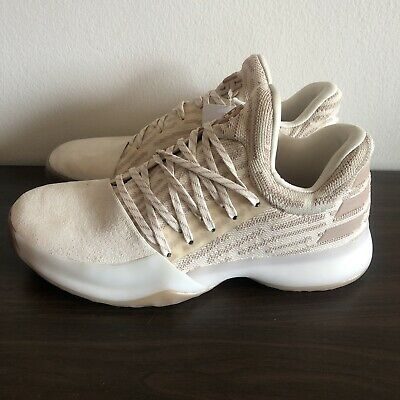 buy popular a74ea 1c310 Adidas James Harden Vol. 1 PK PrimeKnit Shoes AP9840 Size 8 Chalk White