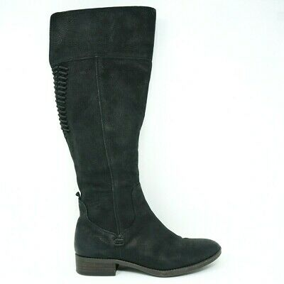 5d4228e0c51 Vince Camuto Womens Over The Knee Boots Size 11M Patamina Black Leather Zip