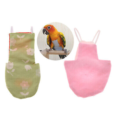 Parrot Washable Pocket Cloth Diaper Reusable Nappies for Small to Large Birds